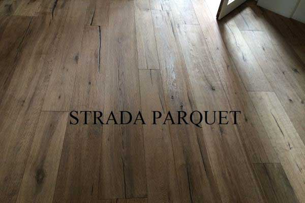 Pre-finished durmast full smoked 150-190-220x15mm rustic ecowood