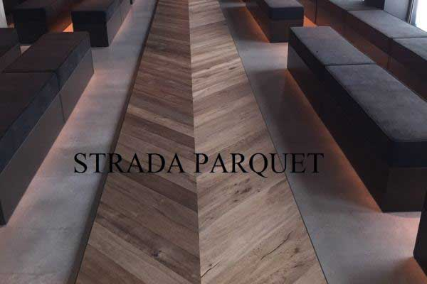 Rovere prefinito Full Smoked 150x15mm spina di pesce